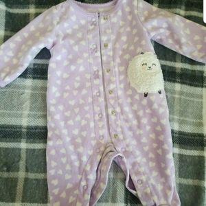 Carter's baby girl purple little lamb sleeper